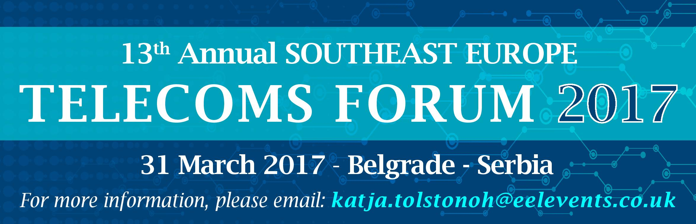13th  SEE  Telecoms  Forum  2017